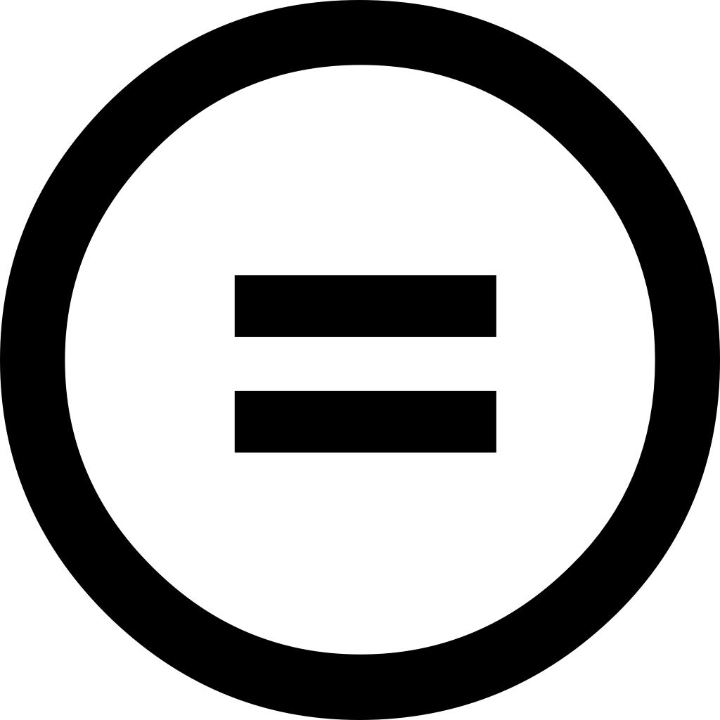 Icon: Creative Commons ND (NonDerivates, Keine Bearbeitung)